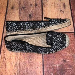 Nine West Espadrille Flats Slip On Shoes 8.5 (Q)